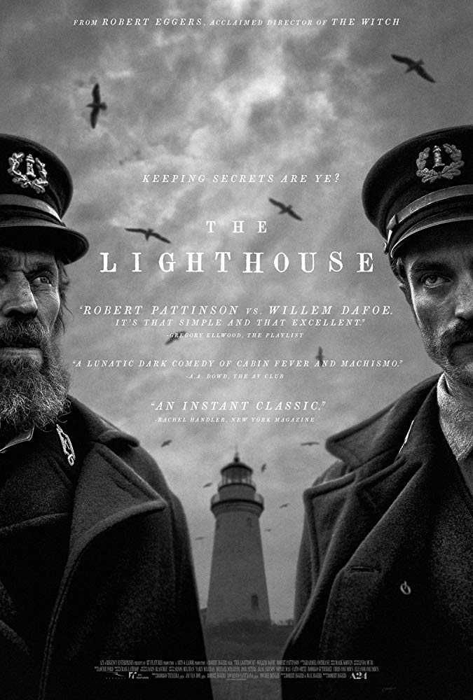 Willem Dafoe and Robert Pattinson in The Lighthouse (2019) India