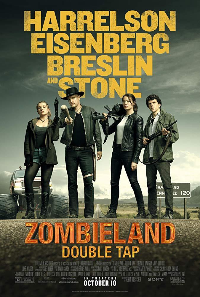 Woody Harrelson, Jesse Eisenberg, Abigail Breslin, and Emma Stone in Zombieland Double Tap (2019) India