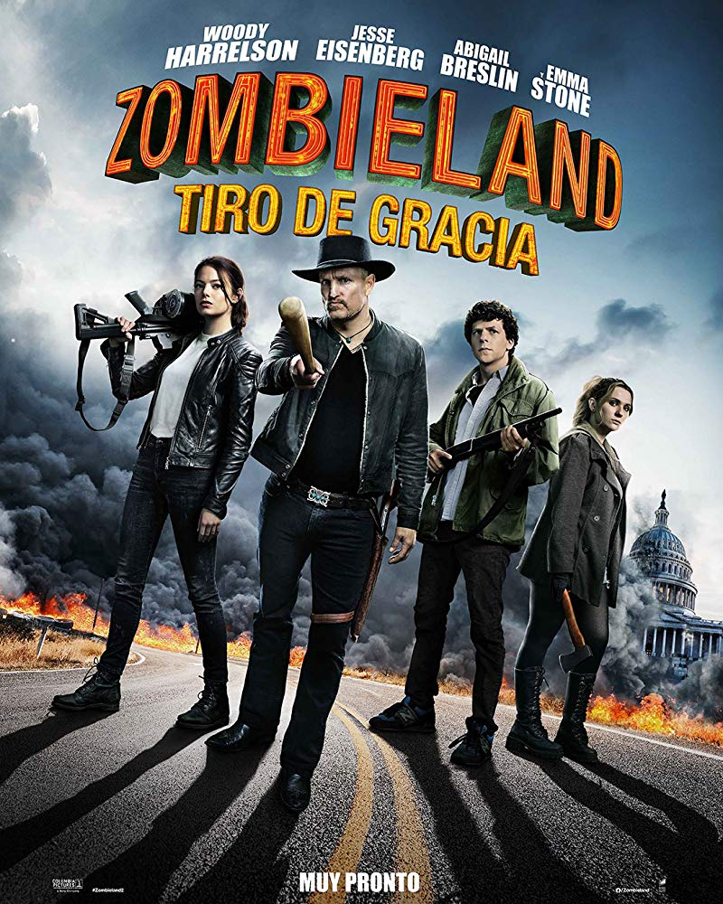 Woody Harrelson, Jesse Eisenberg, Abigail Breslin, and Emma Stone in Zombieland Double Tap (2019) Mexico