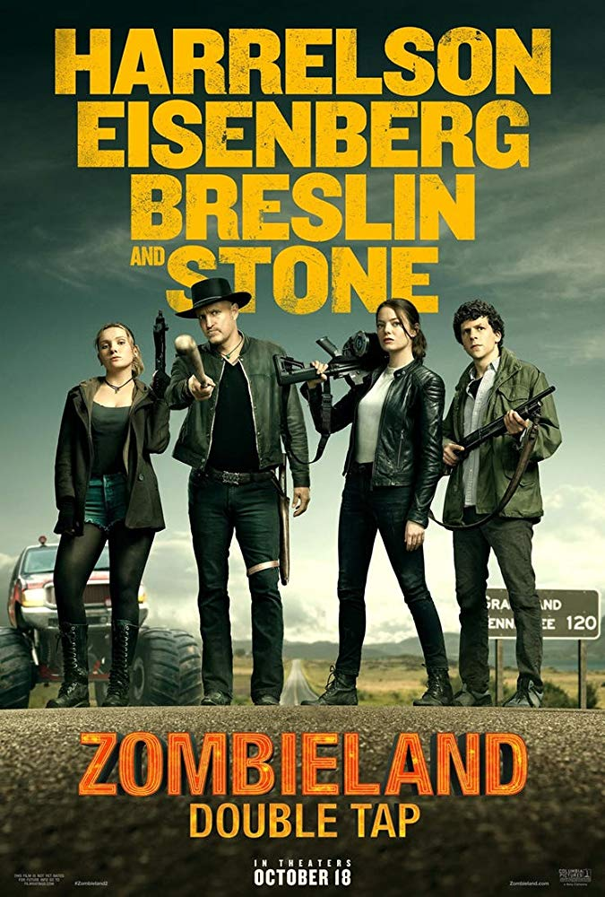 Woody Harrelson, Jesse Eisenberg, Abigail Breslin, and Emma Stone in Zombieland Double Tap (2019) US