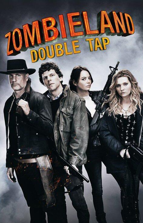 Woody Harrelson, Jesse Eisenberg, Abigail Breslin, and Emma Stone in Zombieland Double Tap (2019)